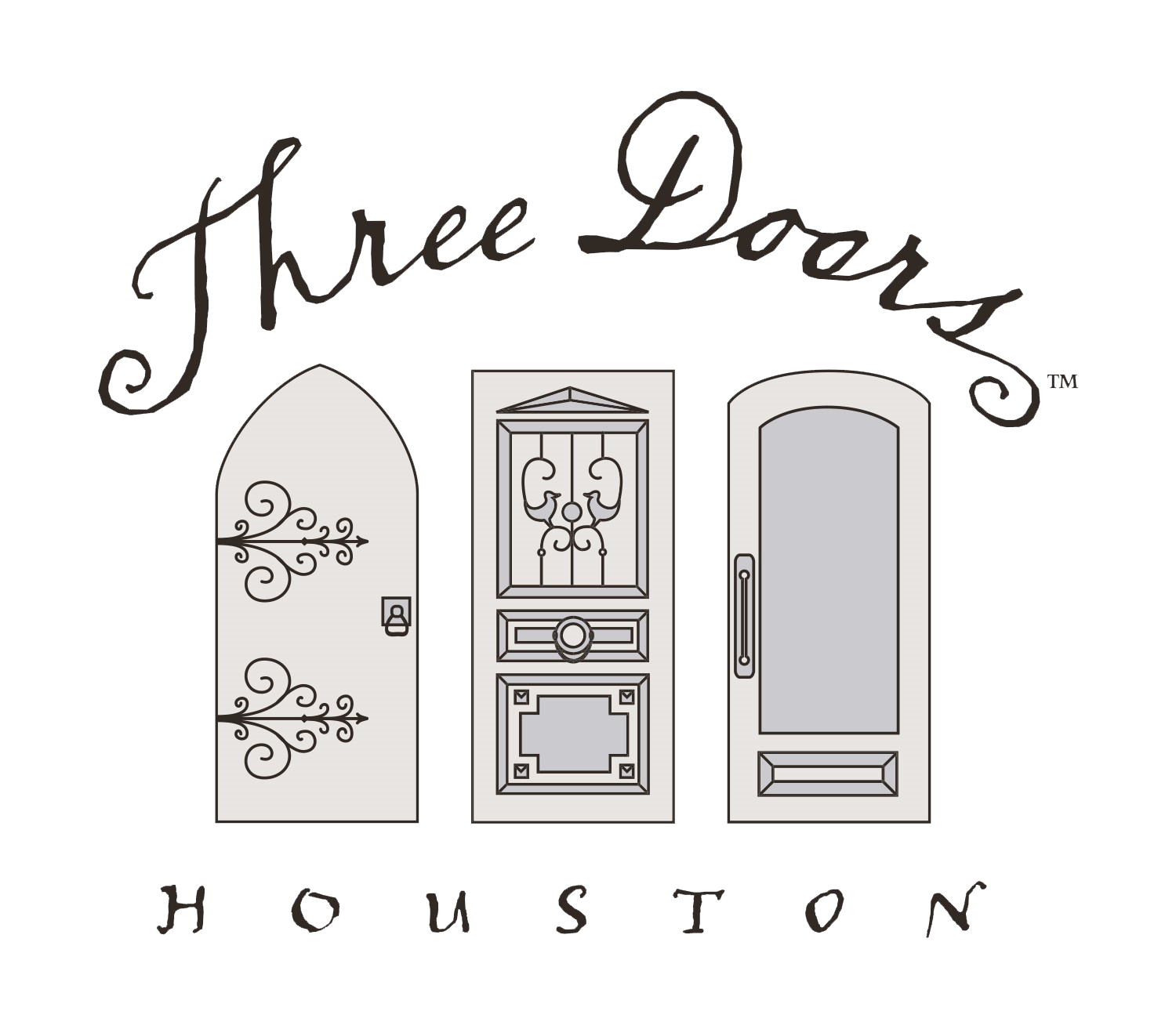 three doors houston logo